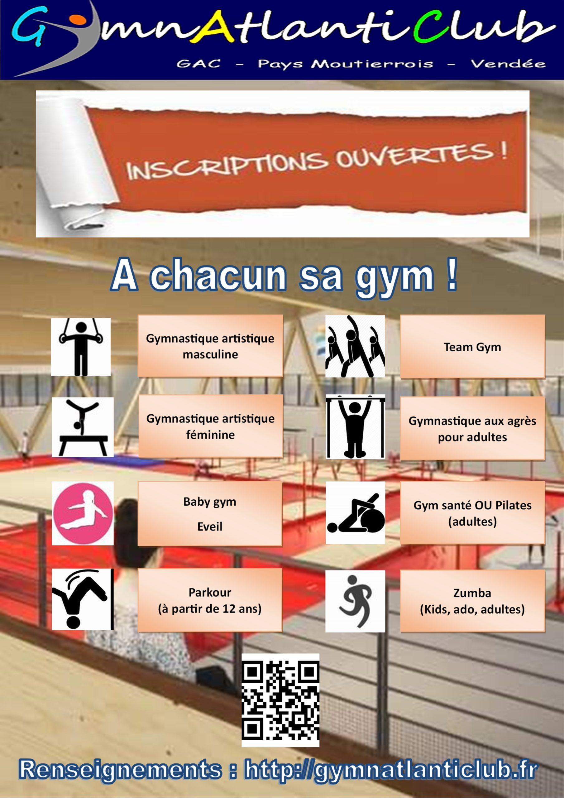 inscriptions gym